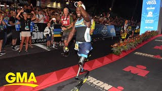 How this amputee made history at the Ironman World Championship