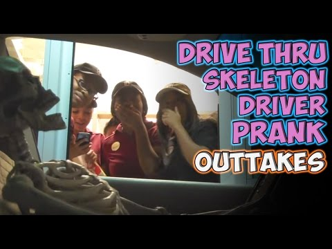 Drive Thru Skeleton Driver Prank Outtakes