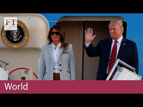 Donald Trump lands in Helsinki for talks with Vladimir Putin