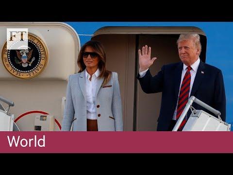 Donald Trump lands in Helsinki for talks with Vladimir Putin