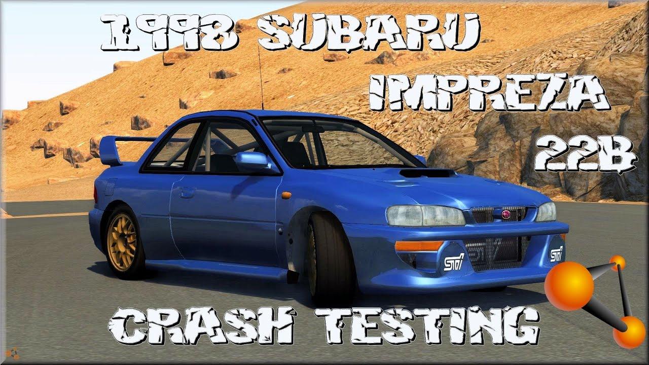 Beamng Drive Alpha 1998 Subaru Impreza 22b Sti Crash
