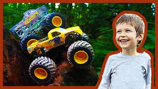 Toy Monster Trucks Go Hiking