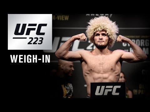 UFC 223: Weigh-in