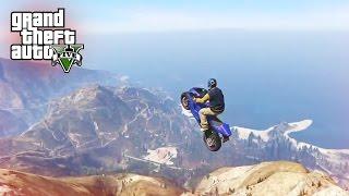 LONGEST STUNT JUMP EVER! - (GTA 5 Top 5 Stunts)