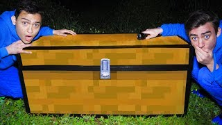 WE FOUND A MINECRAFT TREASURE CHEST IN REAL LIFE! (ENDERMAN SENT US IT!)