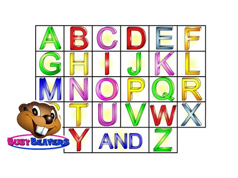 the Alphabet Song (level 1 English Lesson 04) Clip -- Sing Busy Beavers Abc Song, Baby Learning video