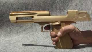 BLOW⇔BACK RUBBER BAND GUN 04.1 I.W.I DESERT EAGLE blowback mechanism is added