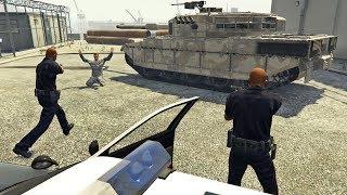 عسكري حاول الإنقلاب في جي تي أي 5 مود الشرطة الجزء 1 | GTA V LSPDFR POLICE MOD