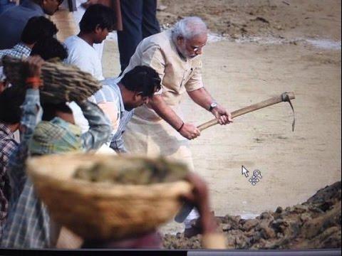 PM Modi cleans Varanasi ghat, nominates 9 including UP CM for Swach Bharat