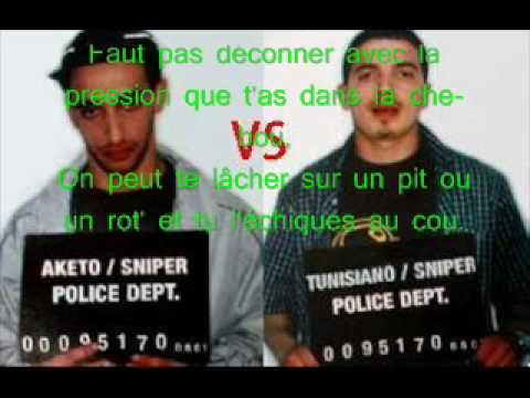 Aketo vs Tunisiano - Sniper
