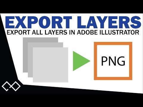 Adobe Illustrator Export All Layers as Separate Files | Adobe Illustrator Tutorial