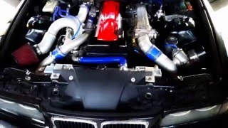 TEZ : BMW E36 Coupe 2JZ-GTE : Cold start (2015-12-27 )