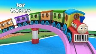 Kids Cartoon - Toy Train Cartoon - Toy Factory Train -  Thomas The Train - train cartoon - JCB