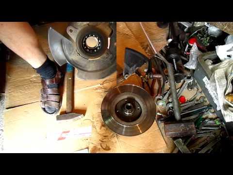 Ремонт передней ступицы и замена подшипника Renault Logan (Рено логан)