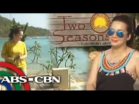 Kris tours Two Seasons Resort in Coron