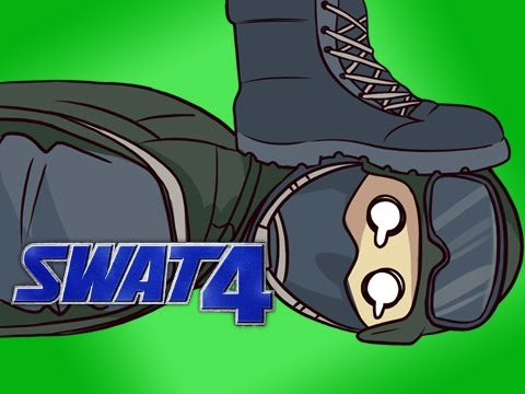 GETTING STOMPED ON - SWAT 4