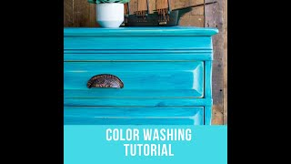 Color Washing Technique for Painted Furniture