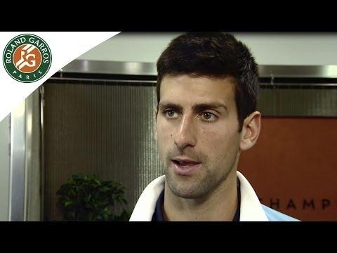 2014 French Open Novak Djokovic. Full of confidence