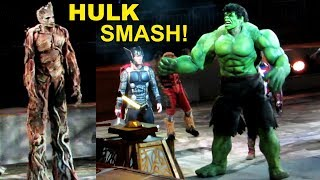 HULK SMASH! Finale at Marvel Universe Live 2018 w/ Loki, Spider-Man, Groot, Rocket, Thor