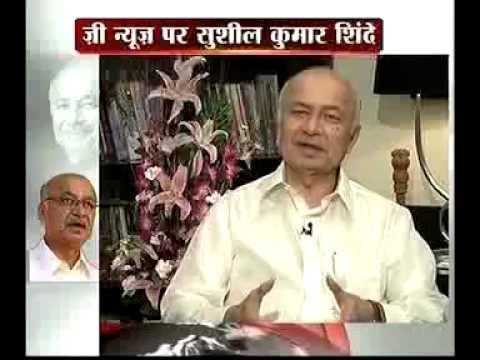 Zee News editor Sudhir Chaudhary EXCLUSIVELY with Union Home Minister Sushil Kumar Shinde .