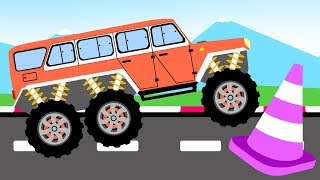 Monster Truck big steel wheels - cartoons for kids
