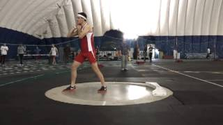 Zach Quevillon throws 12.15m at Super Saturday #1