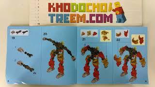 Hướng dẫn lắp ráp Decool 10666 Lego Bionicle 70787 Tahu – Master of Fire giá sốc rẻ nhất