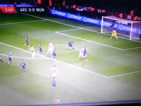 Arsenal 0-0 Manchester United 12/02/14  - Wilshere Pure Frustration