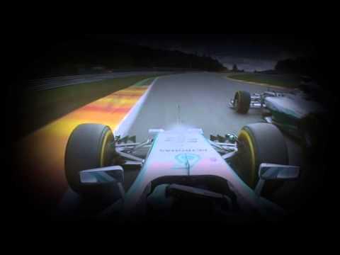 On board battle Rosberg-Hamilton Gp Spa Belgium F1 2014 crash Hamilton