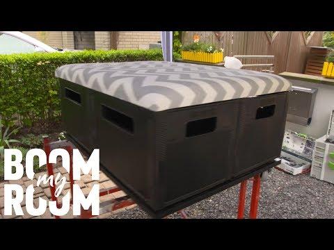 multifunktionelle bogenlampe tischchen multi purpose lamp table diy upcycling selber machen. Black Bedroom Furniture Sets. Home Design Ideas