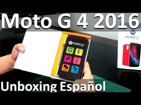 Motorola Moto G 4ta Generación Unboxing Español - Nuevo Moto G4 Novedades