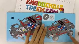 Hướng dẫn lắp ráp Decool 3341 Lego Technic 8081 Extreme Cruiser style 2 giá cực chất
