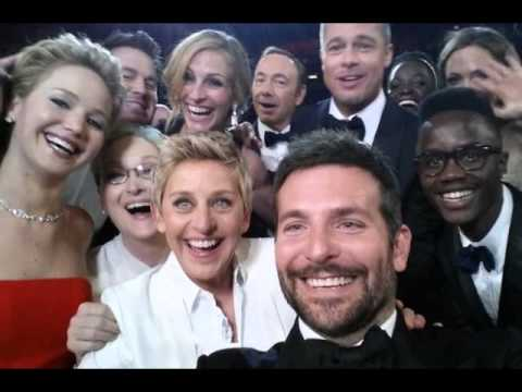 OSCARS Selfie 2014 : Ellen DeGeneres Most Retweeted Hollywood Selfie Of All Time (3/2/14)