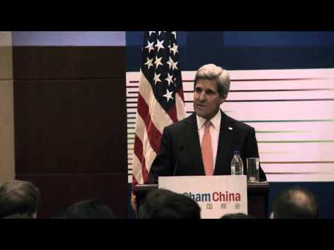 Secretary Kerry Delivers Remarks at an AMCHAM Meeting