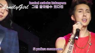 Kim Hyung Jun & Park Jung Min - Even if a thousand years pass [español + romanización + Hangul]