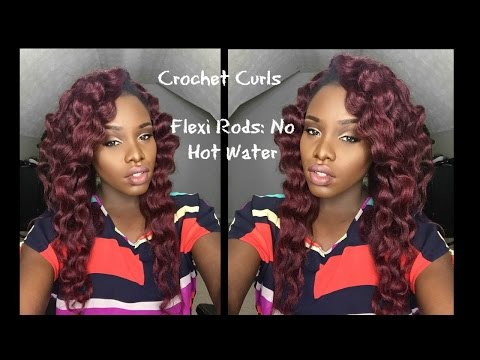 Crochet  Braids Curls    Flexi Rods    No HOT WATER!!!!  TAI LO