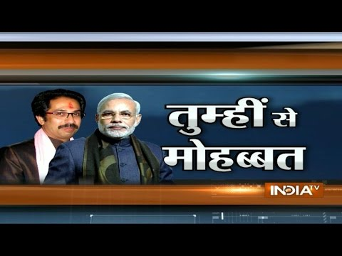 PM Narendra Modi attacks Sharad Pawar, remains silent on Shiv Sena