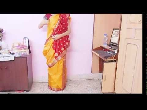 How To Drape Bengali Style Saree-wear Bengoli Saree tie Bengali Sari wrap carry video