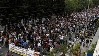 Thousands Strike Greek Govt Pulling the Plug on State TV