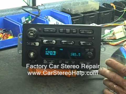 Fix Broken Car Stereo GM Delco