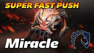 Miracle Lycan | Super Fast Push Strategy | Dota 2 Pro Gameplay