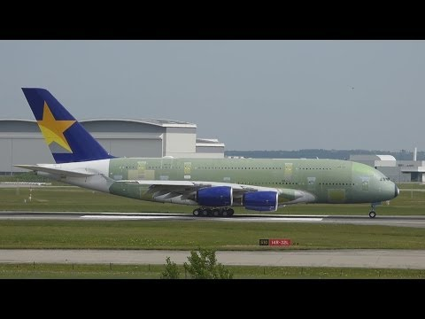 [FullHD] Skymark's first A380!! TestFlight at Toulouse/TLS/LFBO
