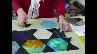 How to make a Charming Hexagon Quilt by machine - Quilting Tips & Techniques 078