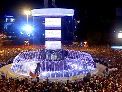 8 septemvri pustanje vo upotreba na fontanata  ALEKSANDAR MAKEDONSKI