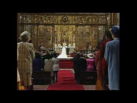 Royal Wedding, Seville 1995. HRH the Infanta Elena of Spain and Don Jaime de Marichalar.