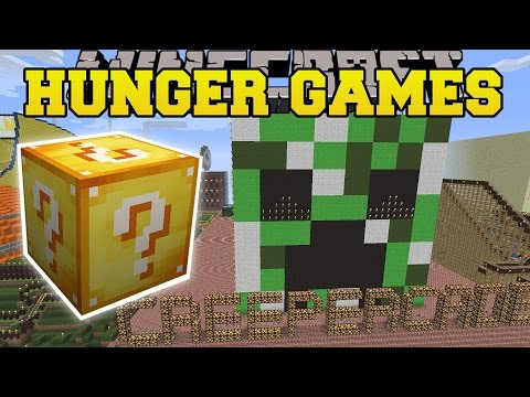 Minecraft: Notch Land Hunger Games - Lucky Block Mod - Modded Mini-game video