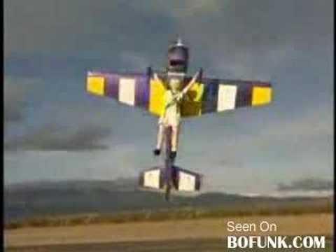 great r/c skills...huge r/c plane....