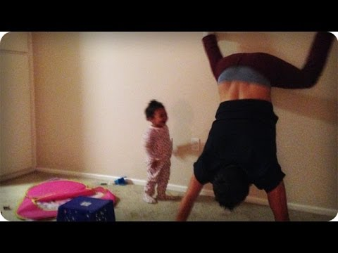 Dad Wall Twerks With Toddler Before Bed