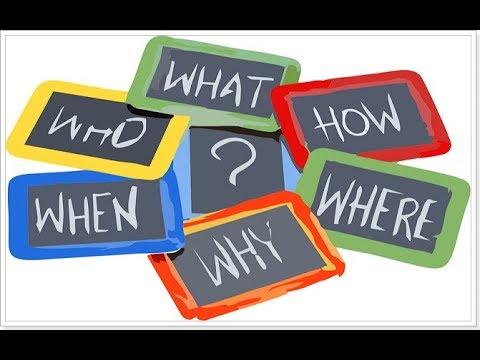 Вопросительные слова в английском языке. Learn question words