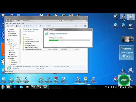 Installing Internet Explorer 11 in Windows 7 Ultimate SP1 x64